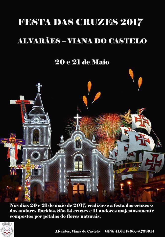 Festa de Santa Cruz e Andores Floridos de Alvarães dias 20 e 21 Maio 2017
