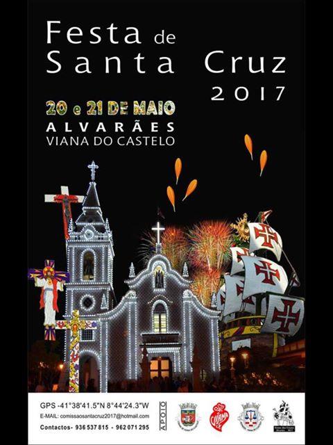 Cartaz oficial da Festa de Santa Cruz 2017